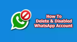WhatsApp ID Ko Delete Or Disabled Kaise Kare