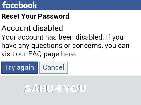 Open Blocked Facebook Account