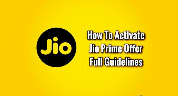 Jio Prime Membership Offer Kaise Activate Kare