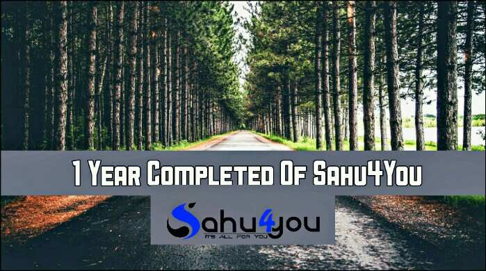 Sahu 4 You One Year Story – Mera 1 Saal Blogging Experience