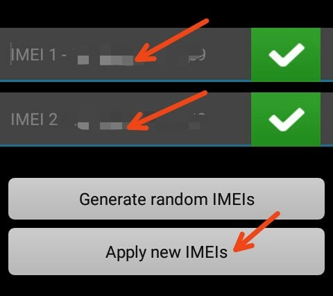 android change imei number