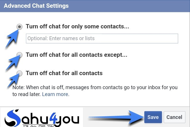 Hide Facebook Chat Online Status