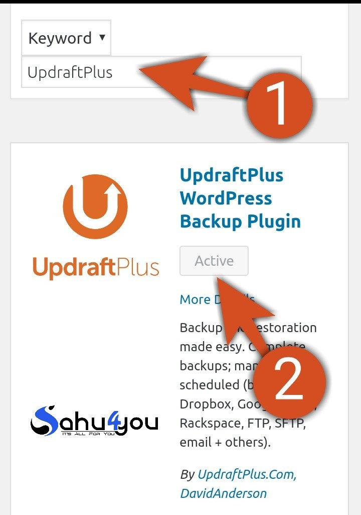 updraftplus backup plugin se wordpress backup kaise le