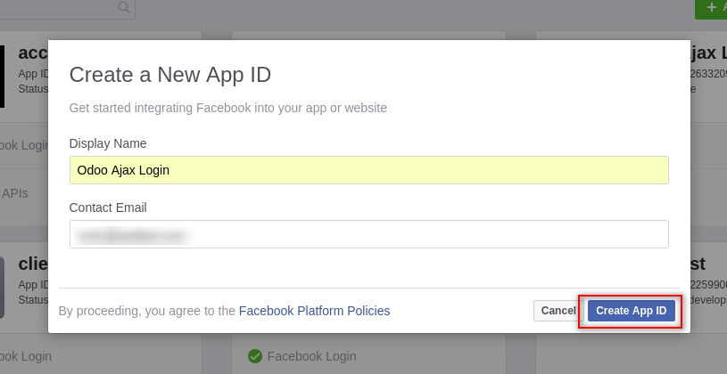 create facebook app id for wordpress blog