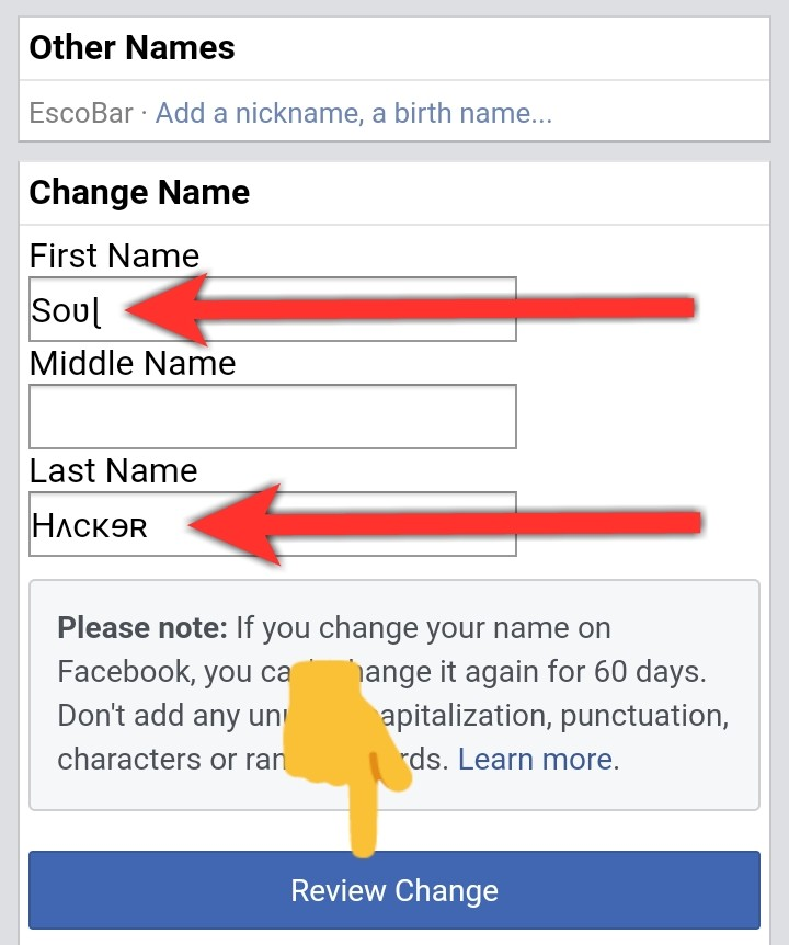 Facebook par stylish namw account kaise banaye