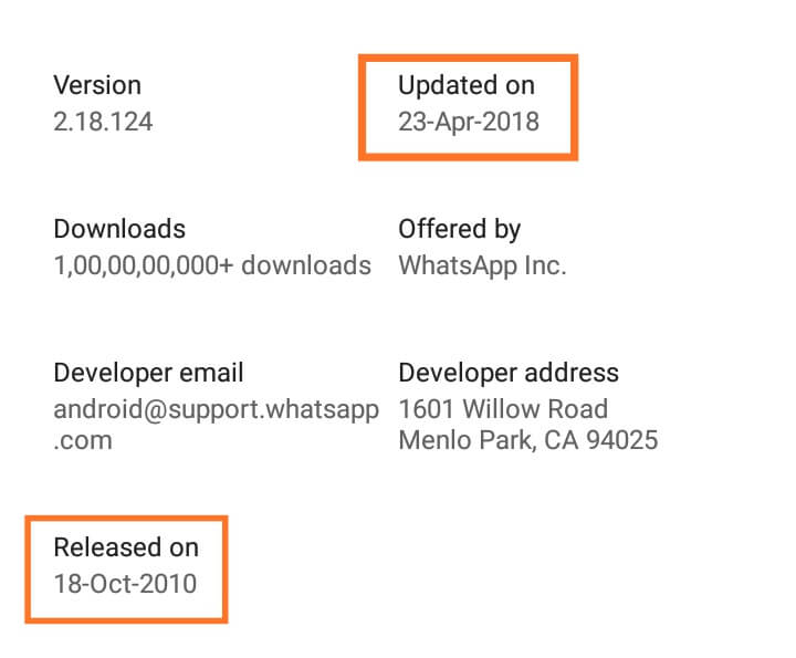 play store app release date