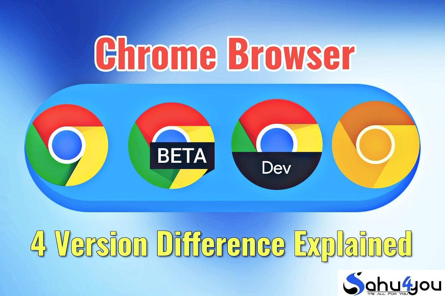 Google Chrome Stable Beta Dev Canary Chromium
