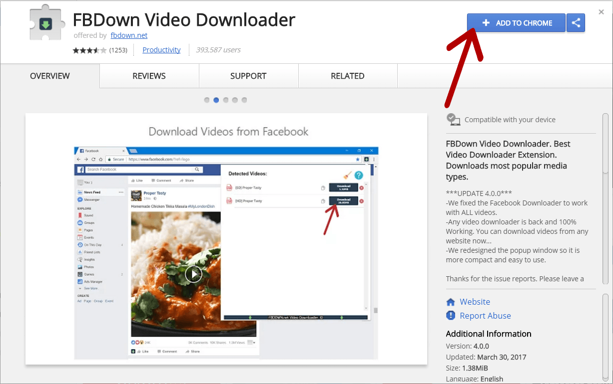 Facebook Video Downloader How to Use our Chrome Extension
