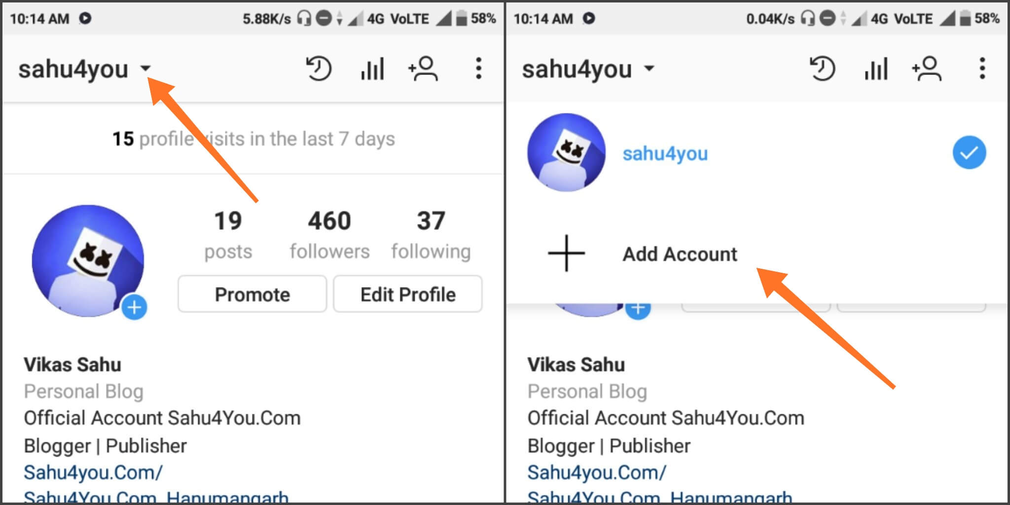 Manage Instagram Multiple Account