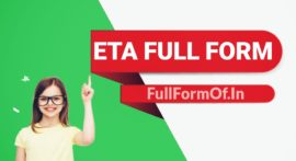 ETA Full Form in Hindi