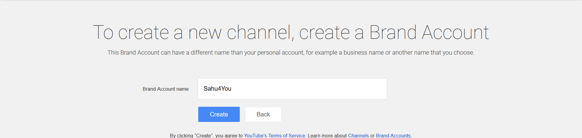 Create Multiple YouTube Channels Under One Account