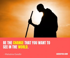 Mahatma Gandhi Life Quotes for Work Success
