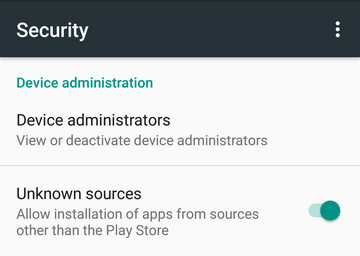 Enable Android Unknown Resources