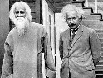 Rabindranath Thakur with great scientist Albert Einstein, 1930