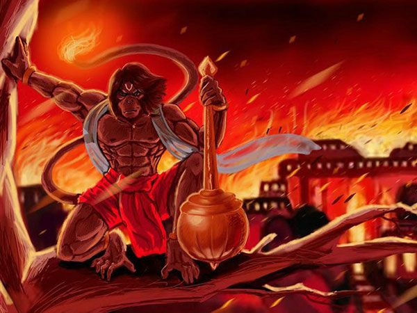 God Hanuman Fired Lanka