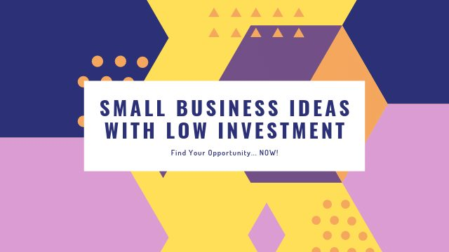 Small Business Ideas with Low Investment In Hindi