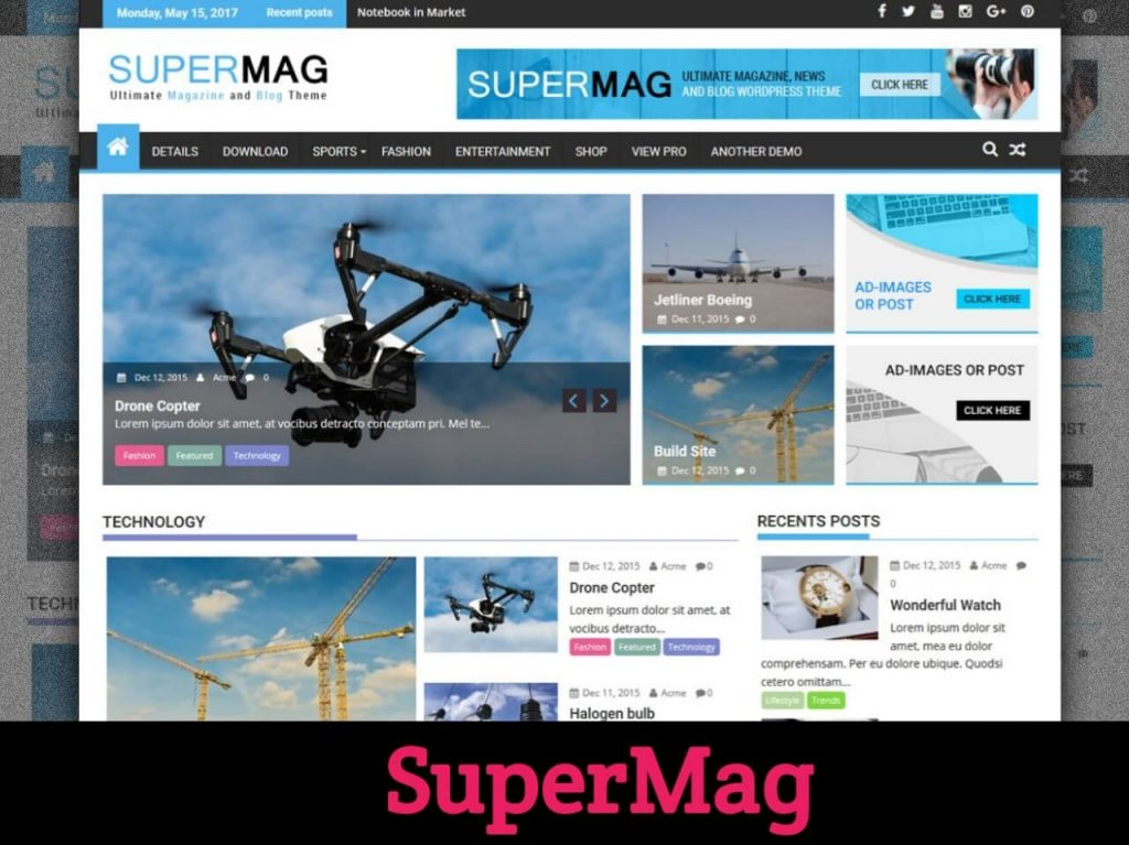 SuperMag WordPress Theme
