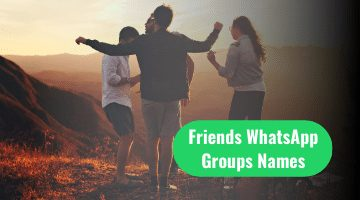 Friends Whatsapp Group Names